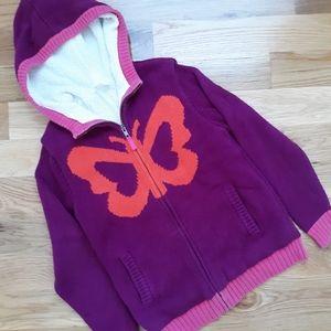 Hanna Andersson purple fleece lined sweater 140